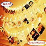 20LED Photo Clips Warm White Fairy String Lights for Bedroom Battery Operated Perfect for Hanging Pictures, Cards, Memos Item Code:20CLWWBA