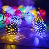 30 LED 10.5ft Gold Moroccan Waterproof Outdoor Multicolor Solar String Lights for Curtain,Bedroom,Patio,Lawn,Landscape,Fairy Garden,Home,Wedding,Holiday,Christmas Tree,New Year,Party Item Code:30GMMUSO
