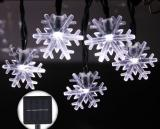 20 ft 30 LED Snowflake Waterproof Cool White Solar String Light Christmas for Outdoor Party Gardens Holiday Christmas Decorations Item Code:30SFCWSO