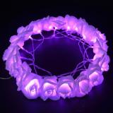 20LED 2M 6.56FT String Lights Bright Purple Rose Flower Lamp Fairy Light Battery Operated for Wedding Gardens Party Item Code: 20RFPLBA