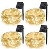 100LED 39FT 8Modes 3-Strands Copper Wire Lights Warm White Waterproof Outdoor Fairy String Solar Lights for Outside Garden Patio Christmas Tree Indoor Bedroom Item Code:100CWWSO