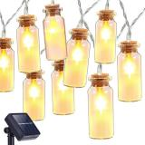 30 LED 9.8FT Waterproof Glass Wish Bottle Solar String Lights,Warm White LED Fairy Decoration Lights for Outdoor Garden Item Code: 30GBWWSO