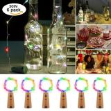 20LED 38in 6Pcs Cork Lights for Wine Bottles, Bottle Lights Color Change Copper Wire Lights String Starry LED Lights for Bottle DIY, Party, Decor, Christmas, Halloween, Wedding Decoration Item Code:20CBCHBA