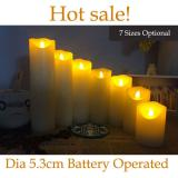 7 Sizes dia 5.3cm Small Battery Operated LED Candle with Long Lasting Bright Light Flameless LED Candle Set with Hight Quality,Church,Home Decor Lighting and Wedding Decoration Item Code:53CDWWBA