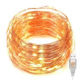 USB 33ft Copper Wire 100 LED Fairy Starry String Lights Decorative Rope Lights For Party Wedding Commercial Light  Item Code:100CWWUS