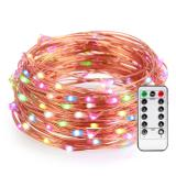 120LED 40ft Copper Wire Fairy String lights with Remote Control Flexible Multi-color Battery-operated for Party Wedding Commercial Light Item Code:120CWMRB