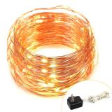 120 Micro LED String Lights on 40 Feet Copper Wire Decor Rope Lights Christmas UL certified Power Adapter Item Code:120CWWAD