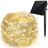 200LED 72 ft Fairy Lights 8 Modes 3-Strands Copper Wire Waterproof IP65 Solar String Lights Warm White Outdoor Indoor Patio Garden Christmas Decorative Item Code:200CWWSO