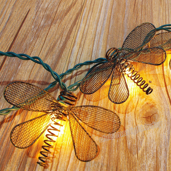 This Metal Dragonfly String Lights Great For Outdoor Party Or Patio Celebration Occasions You Will Be Able To Benefit Of Their Light Fairy Effect On
